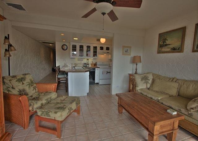 Welcome to the Living area of Casa#324 - Casa De Emdeko 324 Gorgeous Top Floor Condo with Ocean View! - Kailua-Kona - rentals