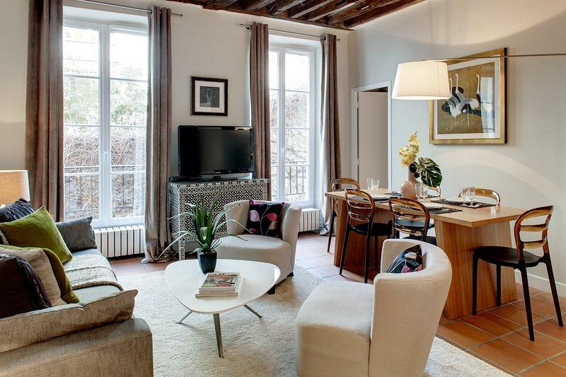 Apartment Haudriettes holiday vacation apartment rental france, paris, 3rd arrondissement, the marais district neighborhood, parisian apartmen - Image 1 - 3rd Arrondissement Temple - rentals