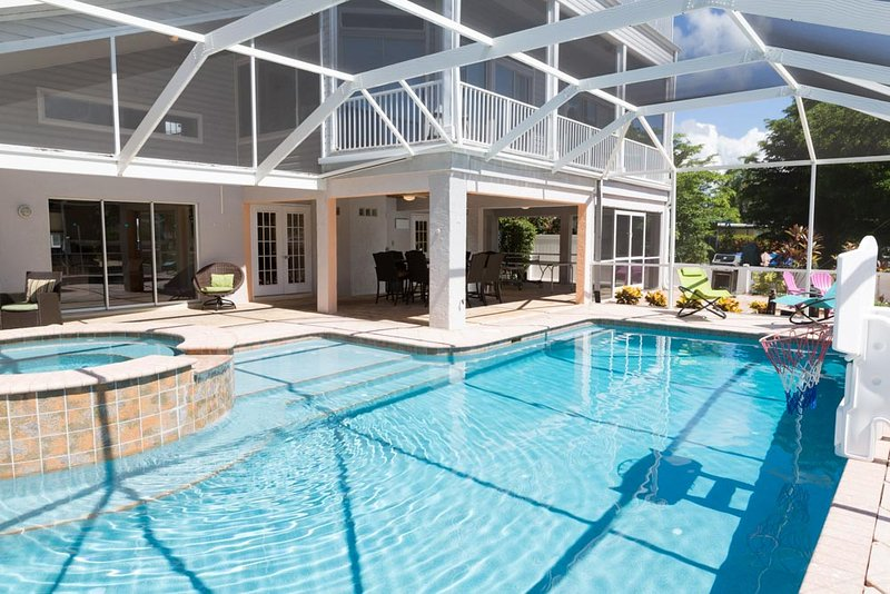 244 Flamingo-Canal home with lanai, pool,spa & FUN - Image 1 - Fort Myers Beach - rentals