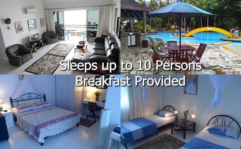 Spacious Seafront apartment. - BatamRooms Seafront Apartment  From $10 SGD PAX - Batam - rentals
