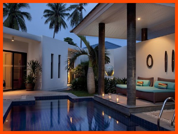 Villa 109 - Walk to beach splash drink eat sleep walk to villa jump in pool - Image 1 - Choeng Mon - rentals