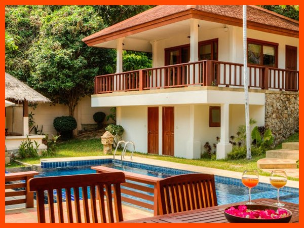 Villa 33 - Walk to beach swim play drink eat sleep walk to villa jump in pool - Image 1 - Choeng Mon - rentals