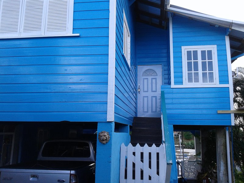 the front view of the entrance  - Holidayrental One Love Cottage Tobago Upstairs Apt - Scarborough - rentals