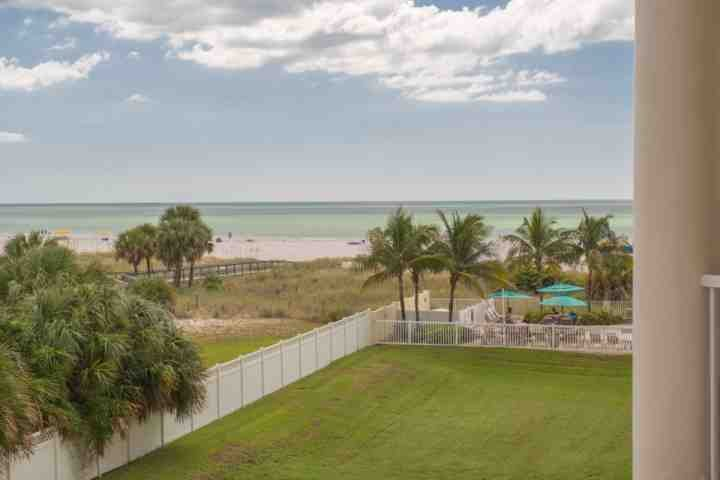 Beachfront View from Private Balcony - 306-S - Sunset Vistas - Treasure Island - rentals