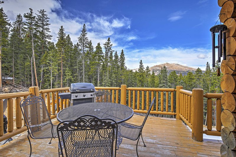 Revel in stunning views at this Alma vacation rental log home! - Large 6BR Alma Cabin w/Spectacular Rocky Mountain Views - Near Skiing, Hiking, River Rafting & More! - Alma - rentals