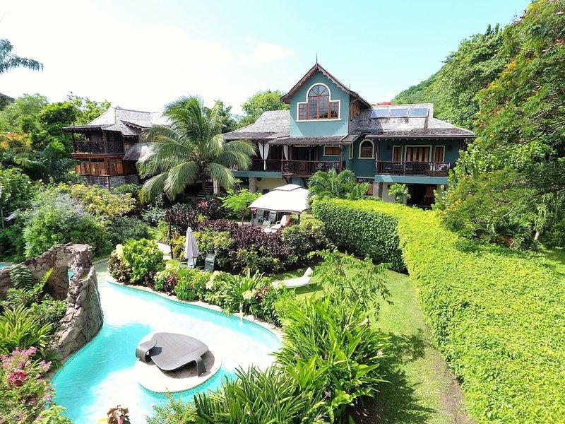 Villa C'est la Vie Luxury fully staffed Flamboyant Villa - Image 1 - Gros Islet - rentals