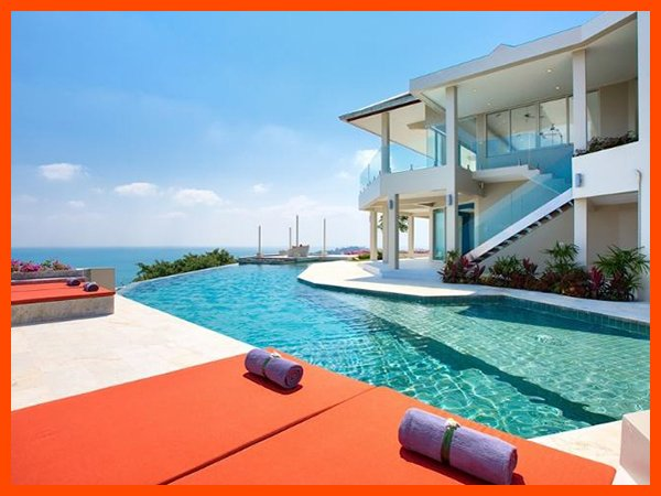Villa 47 - Fantastic sea views (4 BR option) continental breakfast included - Image 1 - Choeng Mon - rentals