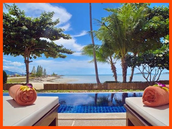 Villa 12  - Beach front (2 BR option) private pool and sunset views - Image 1 - Plai Laem - rentals