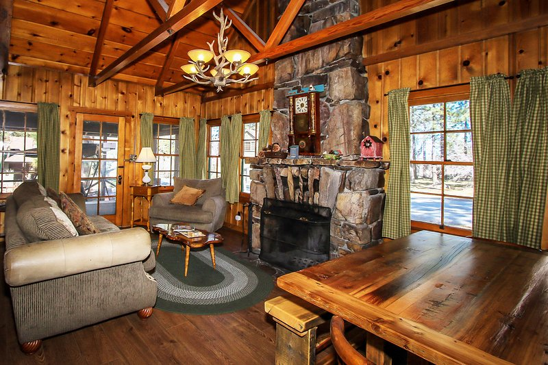 Abe's Amazing Family Cabin~Pool Table~Foosball~In-Deck Spa~Fenced Yard~Laundry~ - Image 1 - Big Bear Lake - rentals