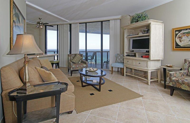 MILLION DOLLAR VIEWS FROM LIVING ROOM - Stunning Views From Penthouse Floor Surfside - Miramar Beach - rentals