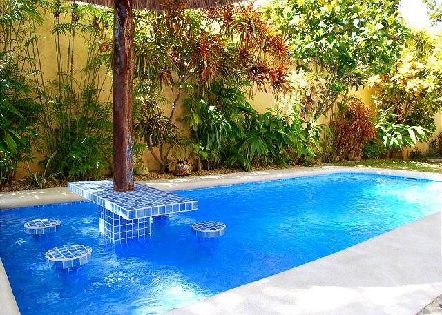 Pool  - BEAUTIFUL CASA, WALK TO BEACH & TOWN, AC, POOL, BIKES, BEACH CHAIRS & MORE! - Puerto Morelos - rentals