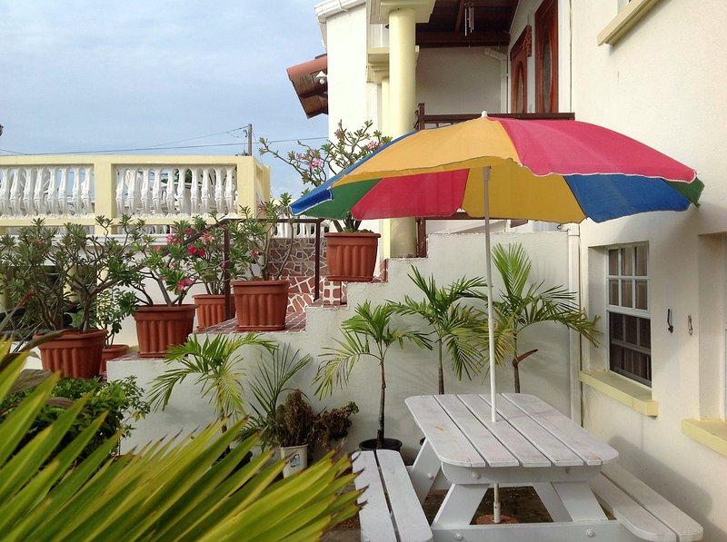 Outside Dining Area - Palm Paradise One Bedroom Apartment sleeps 4 - Saint James - rentals