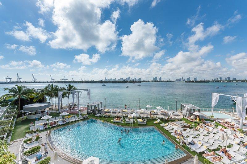 Balcony View  - Luxury Bay view balcony Condo Suite, free WiFi, 24 Gym, Spa. 4 - Miami Beach - rentals