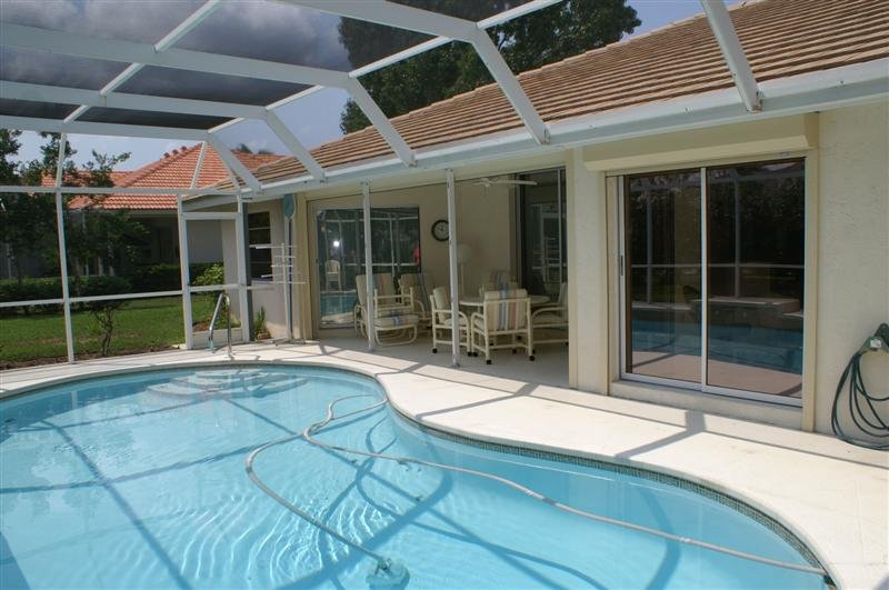 Pool and Lanai Area - Private Waterfront Mobile Home - Englewood - rentals