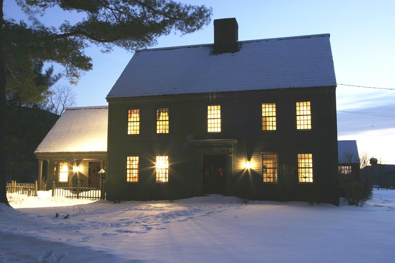 Winter twilight, cozy and warm inside. - Wonderfully Comfortable Home, Amazing Location - Manchester - rentals