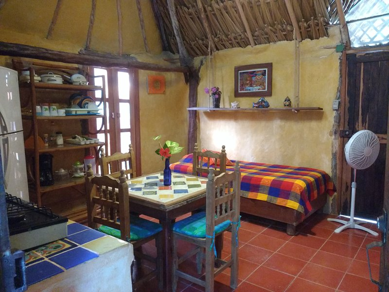 Casitas Kinsol Room #8 - An authentic Mayan hut with a thatched roof and a kitchenette - Casitas Kinsol Guesthouse -Room 8- Puerto Morelos - Puerto Morelos - rentals