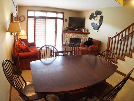 TL38Livingroom with Dining - Trapper's Landing Townhouses - 38 - Sun Peaks - rentals