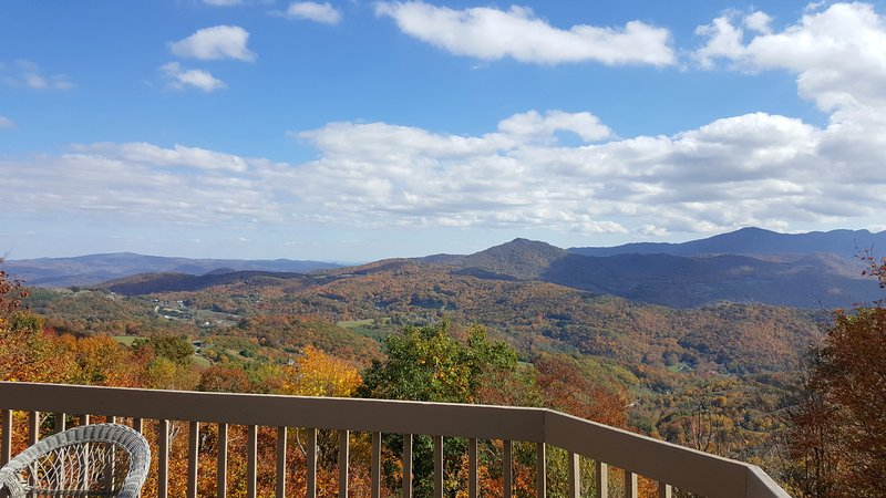 2016 OCTOBER VIEW FROM DECK - PERFECT 2 Bedroom Apt. for Rent on Beech Mountain - Banner Elk - rentals