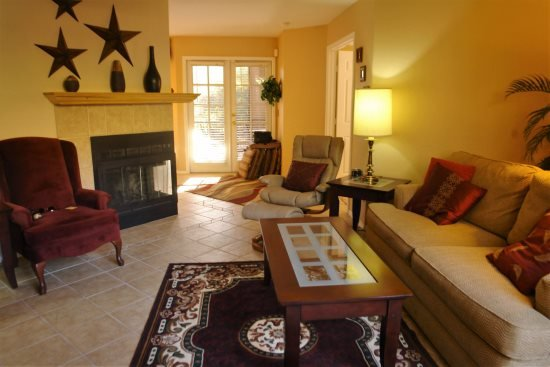 Living Room with Wood Burning Fireplace - Canyon View 1105 - Tucson - rentals