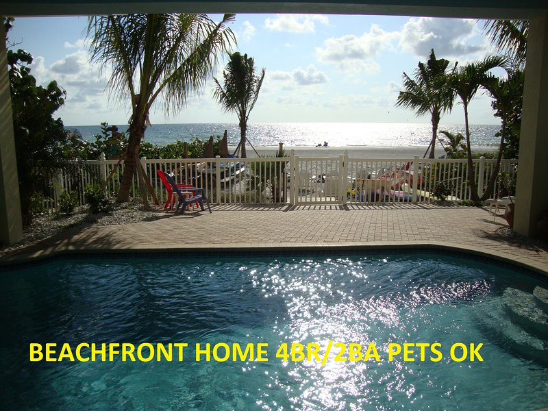 BEACHFRONT BUNGALOW Mermaid-Seahorse *Htd POOL*Pet - Image 1 - Indian Shores - rentals