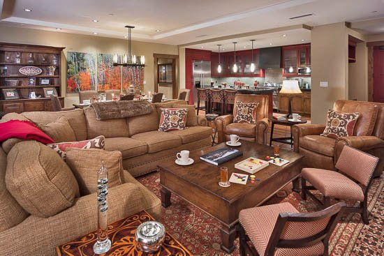 """Living Room - """"Great Powder"""" Specials - save up to 25% at One Steamboat Place - Hahns Peak - Steamboat Springs - rentals"""