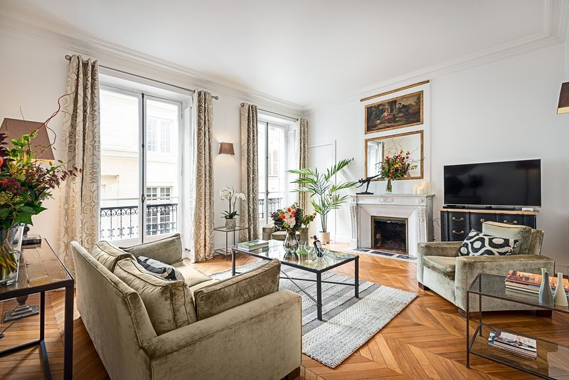 Living room view one - Saint Germain Luxury Two Bedroom - Paris - rentals