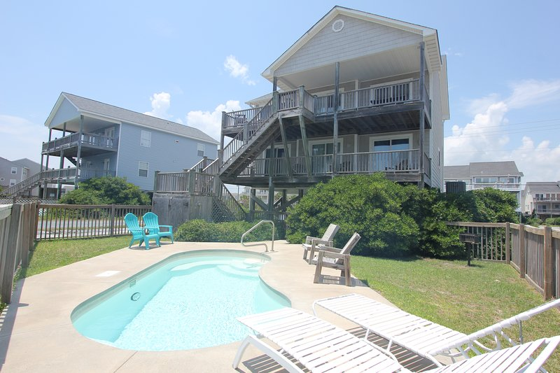 Pool Side - Oceanside Home, Private Pool, Beautiful! - Holly Ridge - rentals