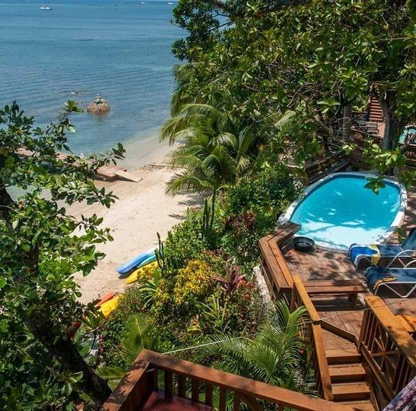 Turtle Beach is on the beach! - The Jellyfish Studio Villa has awesome Ocean Views - Roatan - rentals