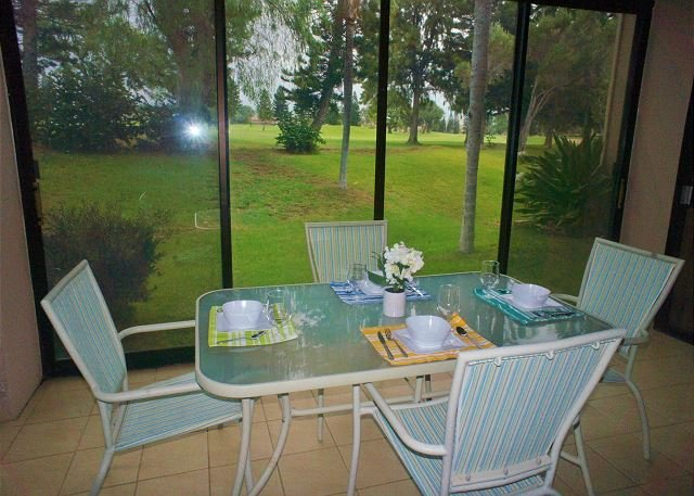 Lanai with golf course views - 2 Bedroom Golf Course View-WF C119 - Waikoloa - rentals