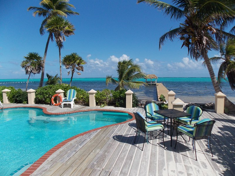 Private house with private pool and pier with palapa. - 18 Degrees North San Pedro Ambergris Belize - San Pedro - rentals