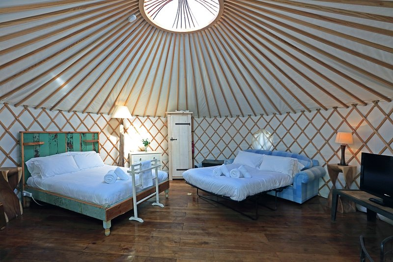 Tehidy, Yurt, The Park  located in Newquay, Cornwall - Image 1 - Newquay - rentals