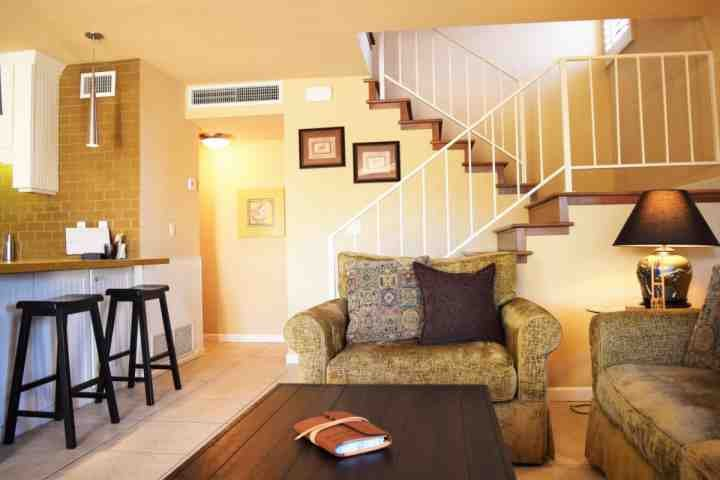 Ground floor living/dining area with powder room - STAGECOACH PROMO 20% OFF! Steps from El Paseo -- Location! Style! Amenities - Palm Desert - rentals