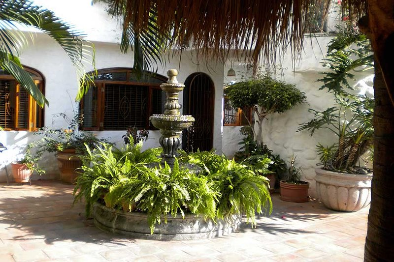 Front entrance to our condo - Moorish-style quiet oasis retreat in the old town - Puerto Vallarta - rentals
