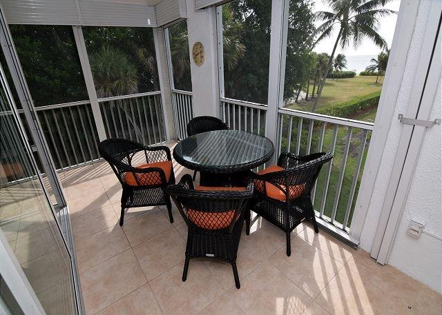 Lanai - Gulf view, pet friendly, Island Beach Club condo - Sanibel Island - rentals