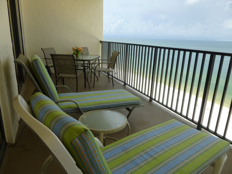 TAKEN FROM BALCONY  NO BOOKING FEES - Beach front renovated.Watch the Dolphins go by ! - Marco Island - rentals