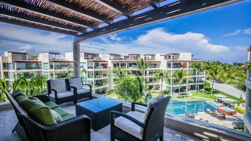 3 Bedroom Beach Front Penthouse at The Elements - Image 1 - Riviera Maya - rentals