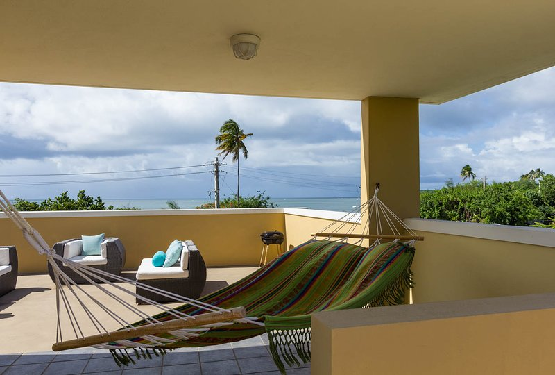 Third level terrace - Tropical Beachfront Vacation Condo - Fajardo - rentals