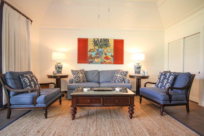 Living Room - Kiahuna 150-Lovely 1 bd short walk to awesome Poipu beaches. Free midsize car. - Poipu - rentals