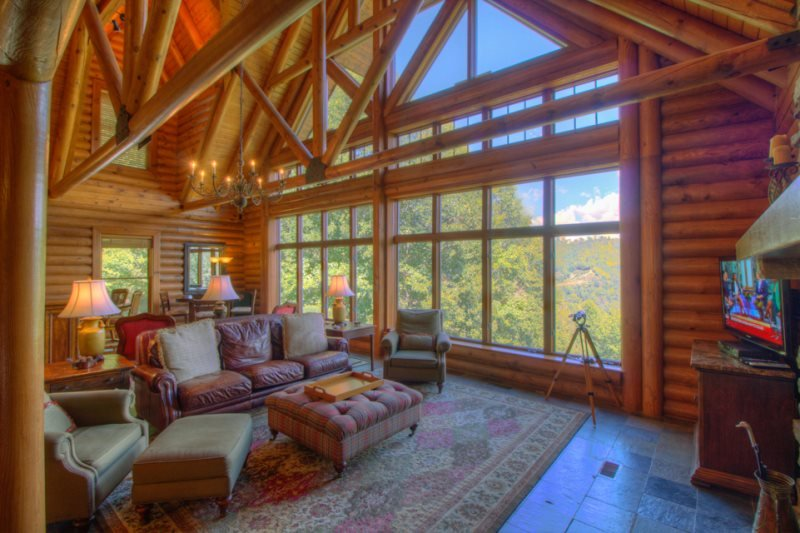 5BR Elegant Cabin in Valle Crucis Area of Boone, Views, Hot Tub, Sauna, Game - Image 1 - Sugar Grove - rentals