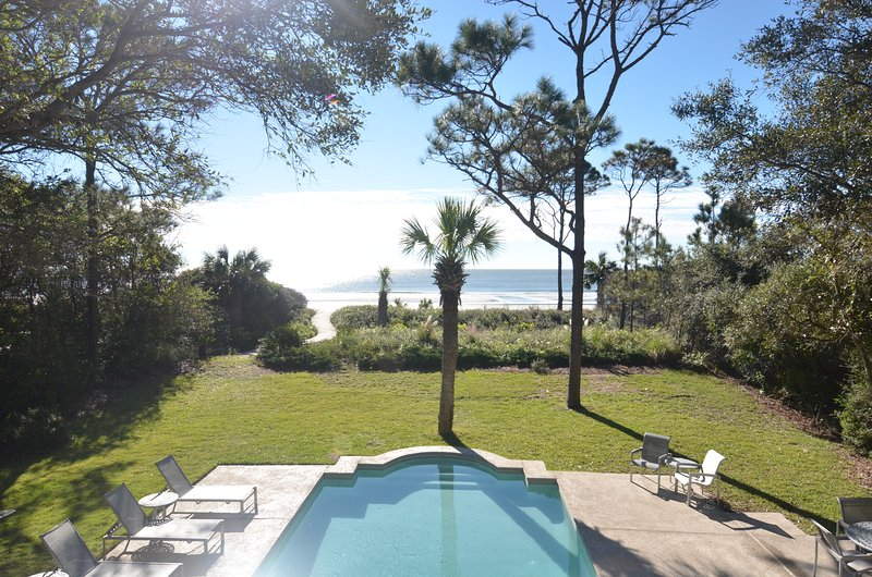 Ocean view from our balcony - Oceanfront, Sea Pines, 22 Black Skimmer Ln. - Hilton Head - rentals