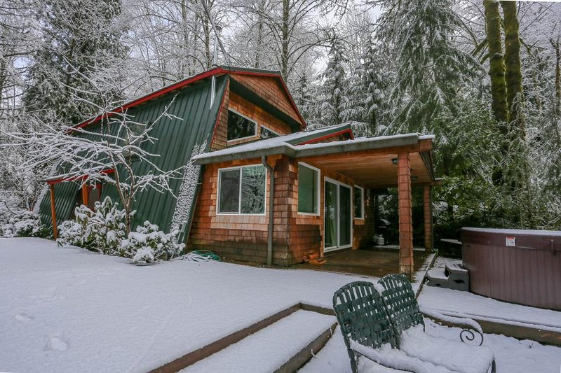 Charming, dog-friendly, Mt. Hood cabin with firepit and hot tub! - Image 1 - Welches - rentals