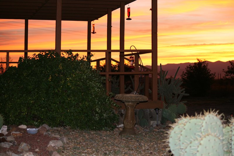 Hummingbird Ranch has 3 decks to enjoy yourself watching birds and wildlife! - $700WK~ Ranch~360 Mt Views, 3 Ghost Towns, Wi-Fi, Bird Paradise Ranch, Pearce AZ - Pearce - rentals