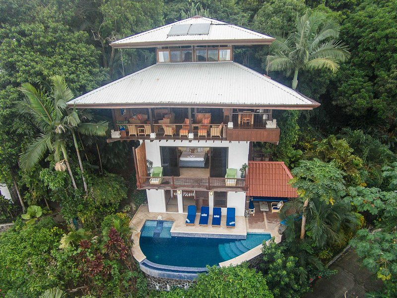 Balinese style of tropical open living - Casa Dolce Vita Panoramic Pacific Views - Manuel Antonio National Park - rentals