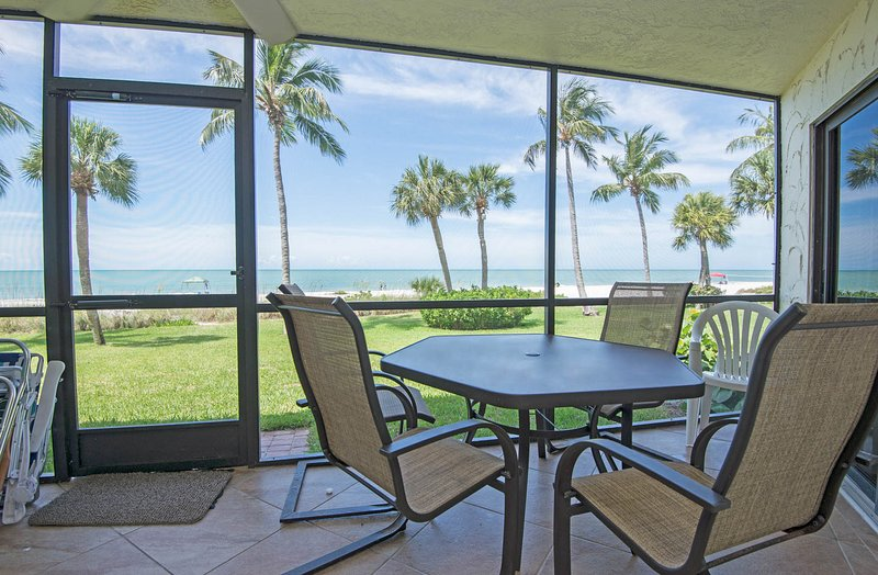 View of Gulf of Mexico from lanai - Pointe Santo E-6 - Stevenson's Retreat - Sanibel Island - rentals