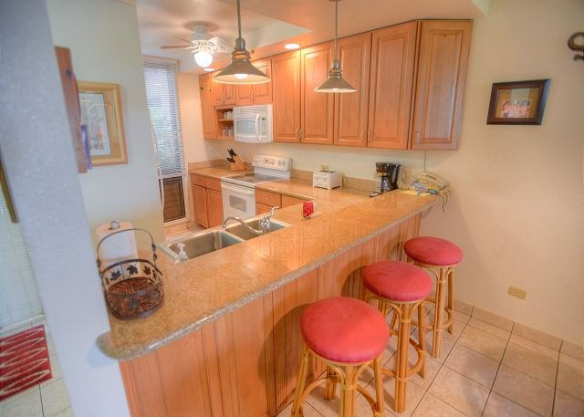 Kitchen - Family Friendly Ground Floor 2-Bedroom - No stairs required! - Kihei - rentals