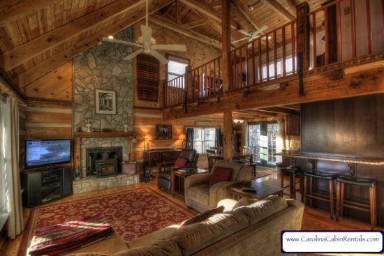 3BR Cabin With Views of Grandfather Mountain, Stone Wood-Burning Fireplace, Game Tables, Close to Boone, Banner Elk and Grandfather - Image 1 - Banner Elk - rentals