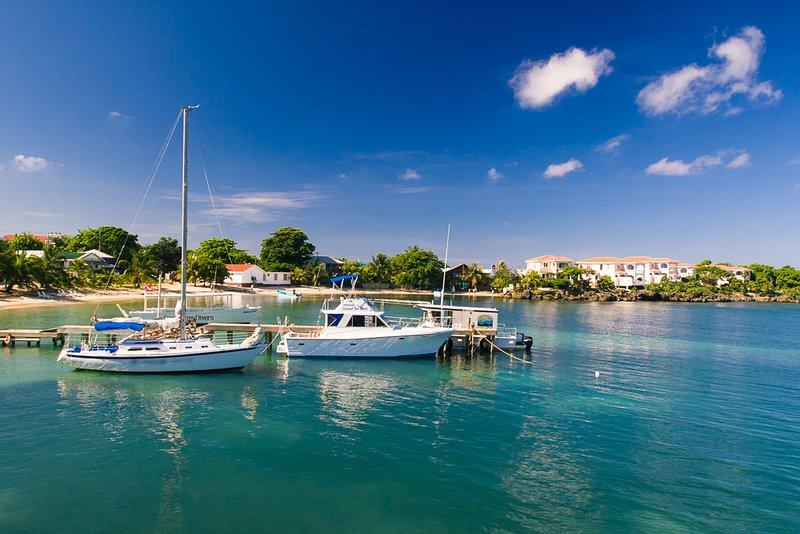 Half Moon Bay with the Coral Vista homes in the background - Coral Vista #3 (2 bedroom option) - Roatan - rentals