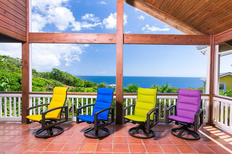 Chill out on our ocean view patio - Teal Vista - West Bay - rentals