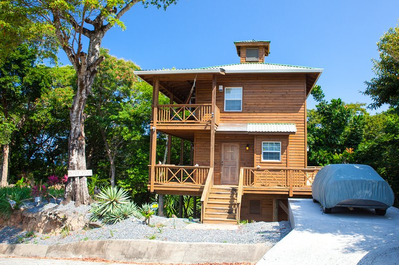 Exterior view of our little treehouse - Tree House on Linda Vista Drive - West Bay - rentals
