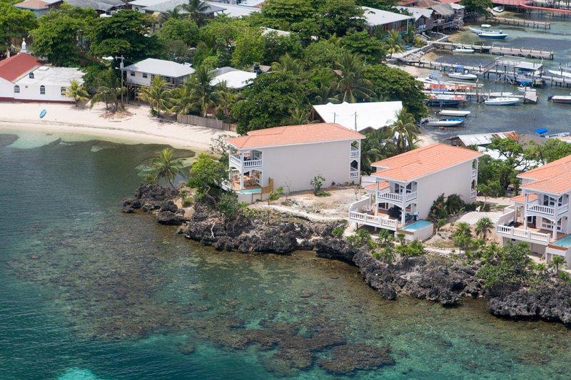 Coral Vista #2 (2nd from left) - Coral Vista #2 - Roatan - rentals